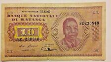 10 Francs Katanga 1960  Congo Belgique Belgïe Belgium