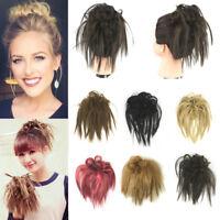 Hair Pieces Elastic Band Hair Extension Scrunchie Hair Bun Curly Messy Chignon