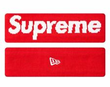 AUTHENTIC Supreme FW Era New York Box Logo Fleece Lined RED Headband
