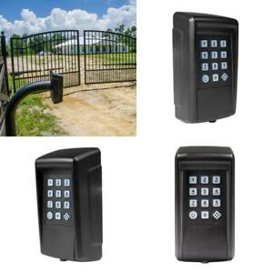 Lighted Gate Opener Keypad Digital Battery Operated Wireless Home Security 10 in