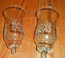 Home Interiors Set of 2 Park Lane Etched Votive Cups Candle Holders