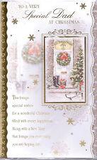 PAPA 'cartolina di Natale. per un padre molto speciale a Natale 3D Glitter card.