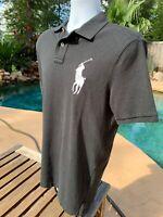 POLO RALPH LAUREN Mens Mesh Big Pony Polo Shirt - XL Black NEW