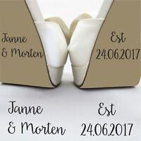 Personalised Bride Groom Date Wedding Day Funny Brides Shoe Decal Sticker Vinyl