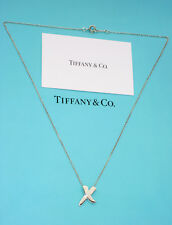 Tiffany & Co Picasso X Kiss Sterling Silver 18 Inch Pendant Necklace