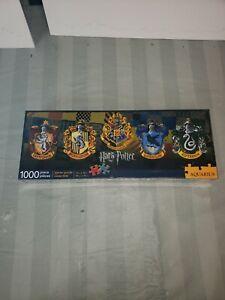 Harry Potter Hogwarts House Crests Crest Slim 1000 P. Aquarius Jigsaw Puzzle New