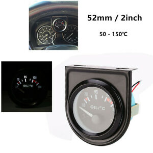 "2"" / 52mm LED Light Display Car Pointer Oil Temperature Meter Temp Gauge 50-150℃"