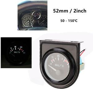 "2"" / 52mm LED Light Display Car Pointer Oil Temperature Meter Temp Gauge 50-150℃"