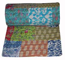patchwork Kantha Quilt Handmade Cotton Bedspread Gudari Bedding