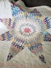 "68"" X 75"" Handmade Quilt Vintage Soft Beautiful"
