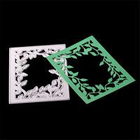 Rectangular Frame Leaves Metal Cutting Dies Stencil For DIY Album Cards Decor cr