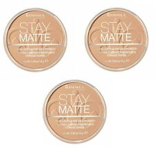 3 x RIMMEL LONDON STAY MATTE POWDER - 018 CREAMY BEIGE - LOT OF 3 - FREE SHIP