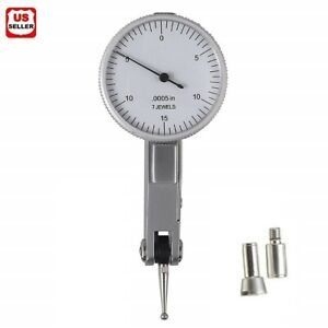 """.030"""" Dial Test Indicator High Precision 0.0005"""" Graduation 0-15-0 White Face US"""
