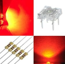 50 diodi led PIRANHA SUPERFLUX 3 mm ROSSO + 50 resistenze 1/4W 560 OHM