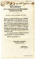 K.u.K. Circular, Verordnung, Dezember 1828, Kupferzündhütchen für Gewehre