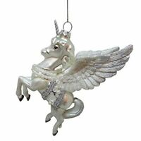 Kurt Adler 5.75-inch Glass Flying Horse Christmas Ornament