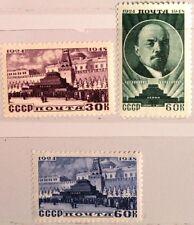 RUSSIA SOWJETUNION 1948 1183-85 24 Todestag Lenin Kommunist Politiker MNH