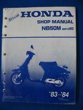 Honda 1983 1984 NB50M AERO 50 Original Factory Service Shop Repair Manual