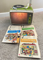 Vintage 1960's General Electric Show N Tell Phono Viewer & 10 Complete Stories