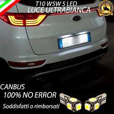 COPPIA LUCI TARGA 5 LED PER KIA SPORTAGE QL T10 W5W CANBUS 100% NO ERROR
