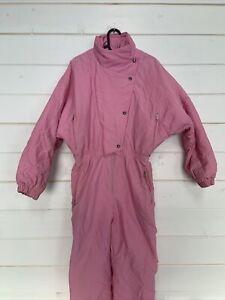 RETRO 90's PINK SKI SUIT Snow Suit Womens Size 38