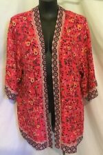"AUTOGRAPH PINK/RED ""BUTTERFLY & FLORAL PRINT"" KIMONO TOP SZ 26-NEW IN! AUTOGRAPH"