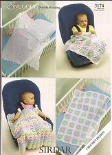Sirdar Snuggly DK Crochet Pattern #3174 Baby Blankets and Shawls