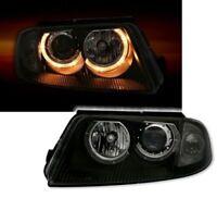 BLACK ANGEL EYE HEADLIGHTS HEADLAMPS FOR VW PASSAT 3BG 10/2000 - 3/2005