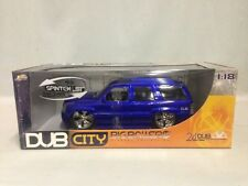 JADA TOYS DUB CITY 2002 Cadillac Escalade, Collectible, 1:18 Die Cast, Blue
