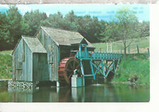 Old Mill and Water Wheel  Guildhall  Vermont  Chrome Postcard 2238