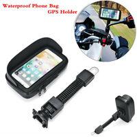 Waterproof Phone Bag GPS Holder Motorcycle Bicycle Scooter Motorbike Universal