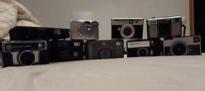 Lot of 9 Old Camera's -  big lot of cameras - kodak, agfa, porst, fujifilm