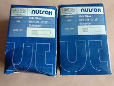 PAIR TWO 2 X NUTRAK BIKE INNER TUBE 18 x 1.75 - 2.125 SCHRADER VALVE KIDS BIKES