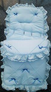 Baby Cosytoes/Footmuff  bluel/ royal pin tuck