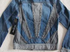 True Religion Danni Sunrise Jacket-2 Tone Denim- Studs-Elements-XS/S- NWT $289