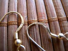 10Pz Monachelle Orecchini Ganci In Argento Indiano Bigiotteria color Oro Dorate