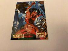 "ELEKTRA Marvel Vs. DC ""Hero"" Card #3 DC Comics/Skybox - 1995!"