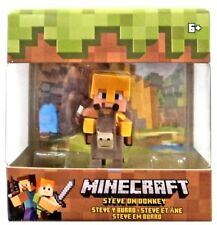 Minecraft Steve on Donkey 1.5 Inch Mini Figure Mattel Mojang 2018 Figurine