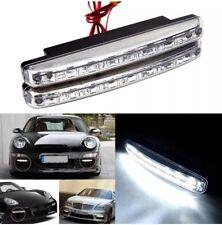 2x 8LED DRL Fog Driving Daylight Daytime Running LED Super White Head Lamp 🇬🇧