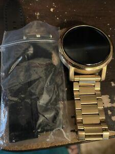Motorola Moto 360 2nd Gen Mens 42mm Gold Metal Link Smartwatch - OEM BAND