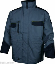 Abrigos y chaquetas de hombre parka grises de poliéster