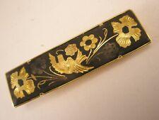 -Flowers & Bird Damscene Vintage Tie Bar Clip