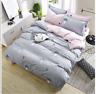 Mushroom Pattern Gray Bedding Set Duvet Cover+Sheet+Pillow Case Four-Piece New