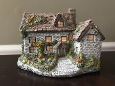 Vintage Country Stone Cottage Lighted House By Ron Gordon 1986
