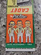 Pep Boys baterías y neumáticos anuncio Caja de cerillas 1950S -- 60S era