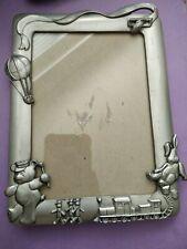 "New Decorative Mini PIG Photo Pewter Frame 2.75/"" Diameter Picture Vintage"