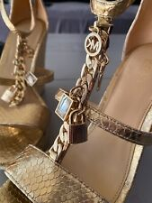 Michael Kors Suki gold wedges UK 5/38 US 7.5 BN Sold OUT