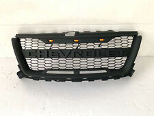 Grill Fit For 2015-2019 Chevrolet Colorado Black Grille 3 LED w/ Letters