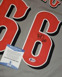 YASIEL PUIG signed autographed CINCINNATI REDS Gray Jersey w/ COA BECKETT Q31542