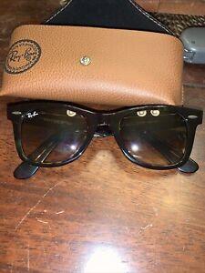 Ray-Ban RB2140 902 Wayfarer Tortoise Frame/ Brown G-15 Lens Sunglasses 50mm